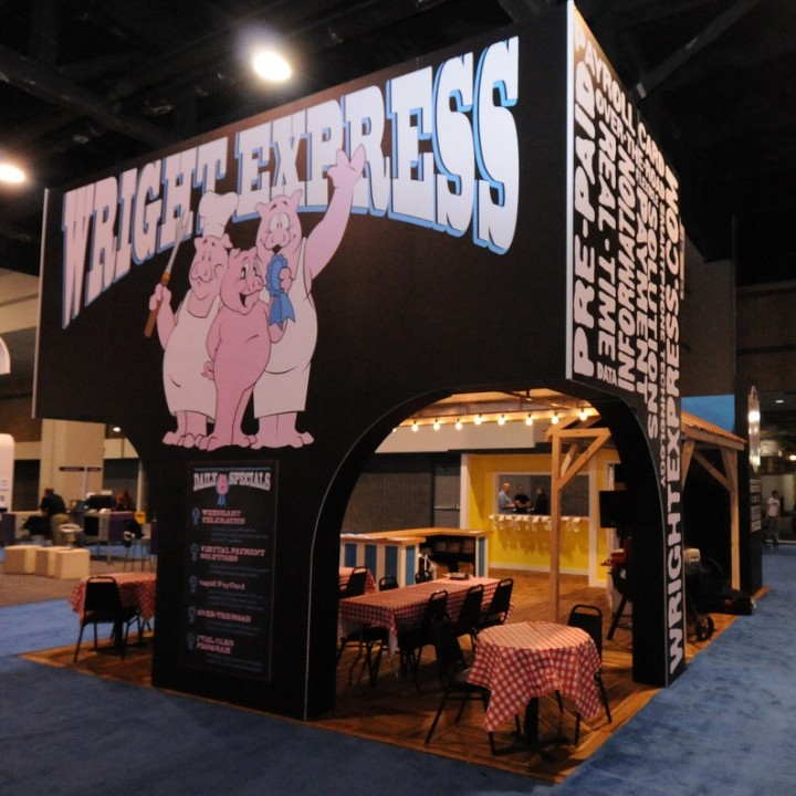BBQ Themed tradeshow display