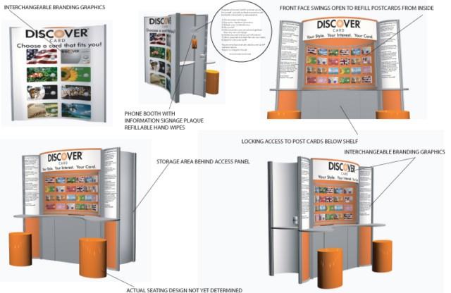 Discover Card Mall Kiosk