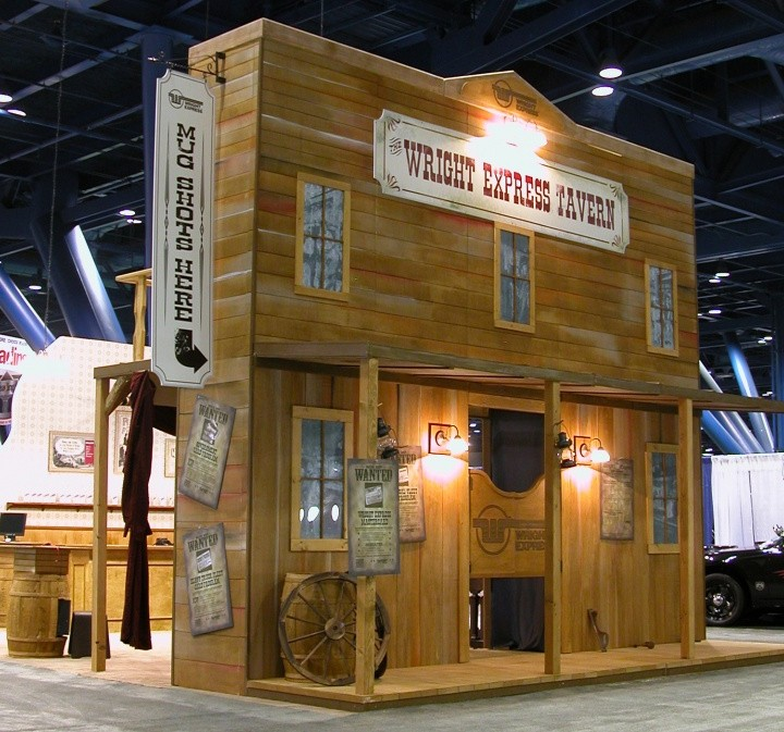 Saloon themed tradeshow display