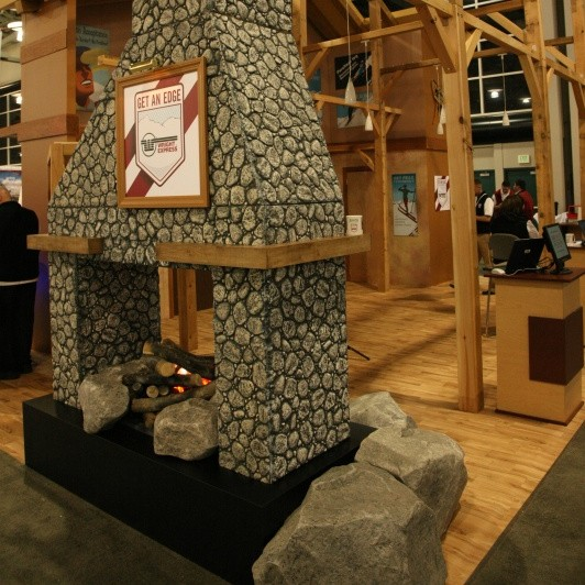 Ski Lodge themed tradeshow display