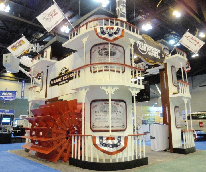 Riverboat themed tradeshow display