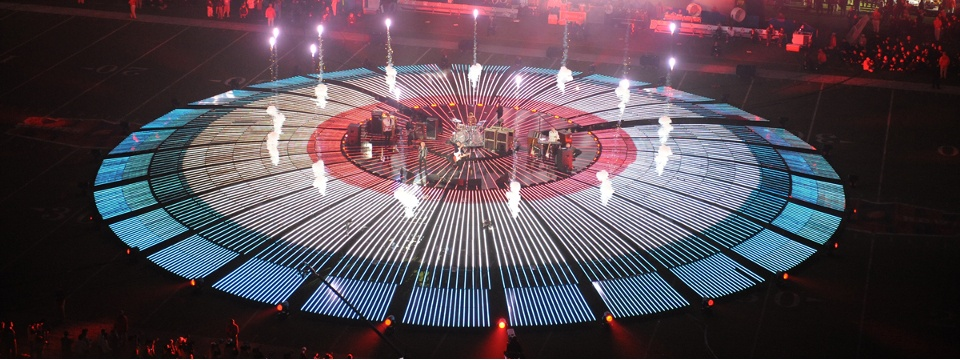 Superbowl XLIV – The Who Halftime Show – Art Direction for Tribe, Inc